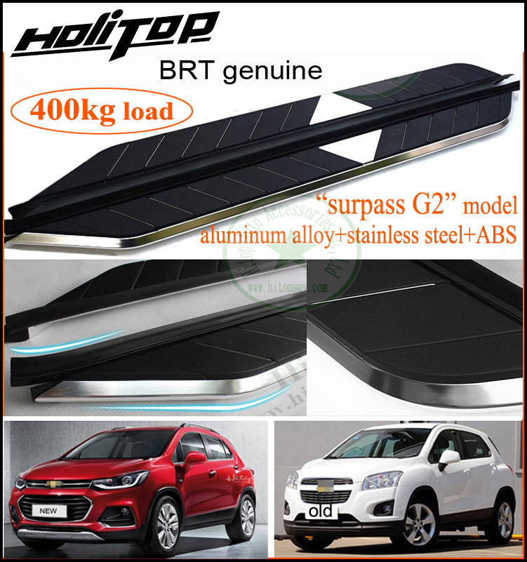 for Chevrolet TRAX side step nerf foot bar running board.designed by BRT.loading weight 400KG, come Hitop to buy BRT genuine