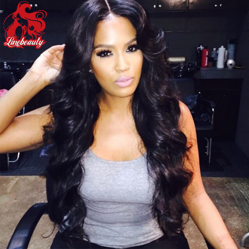 Celebrity Style Synthetic Wigs Loose Body Wave Hair Wig Jet Black