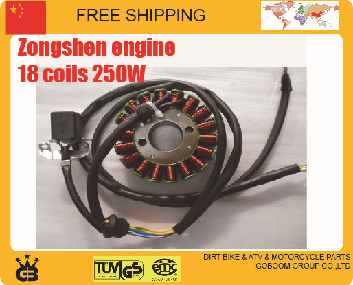 CB250 zongshen magneto stator Motorcycle 250cc engine stator 12v 18 coils xmotos orion bse kayo dirt pit bike free shipping 125cc cbt125 carburetor motorcycle pd26jb cb125t cb250 twin cylinder accessories free shipping