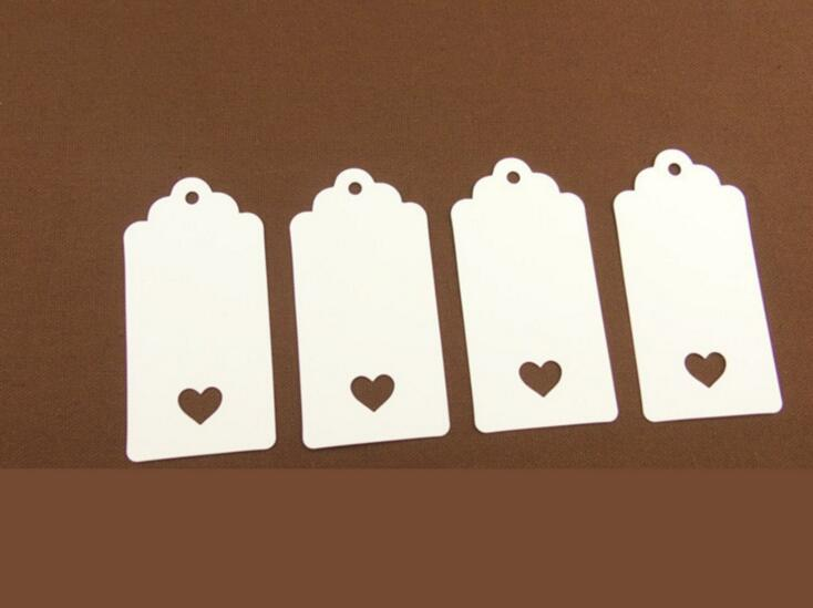 100PCS/Lot 4.5*9.5cm white Kraft Paper Jewelry Price Tags Cut Corner Blank Head Card Luggage Labels