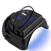 60ワットワイヤレスランプ充電式バッテリーポータブルプロフェッショナルネイルドライヤー紫外線ledジェル乾