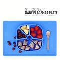 2016Hot Кухонные Принадлежности Силикона Детей тарелки, животных перегородка наборы посуды тарелка с фруктами