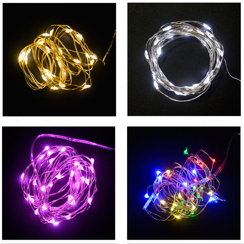 OURUOLA 3M 30 Leds Christmas Lights String LED Copper Wire Fairy Lights For Festival Wedding Centerpiece Party Home Table Decor