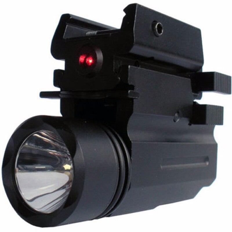 2in1 Red Dot Laser Vue + LED lampe de Poche Combo Chasse Glock Accessoires  pour Pistolet