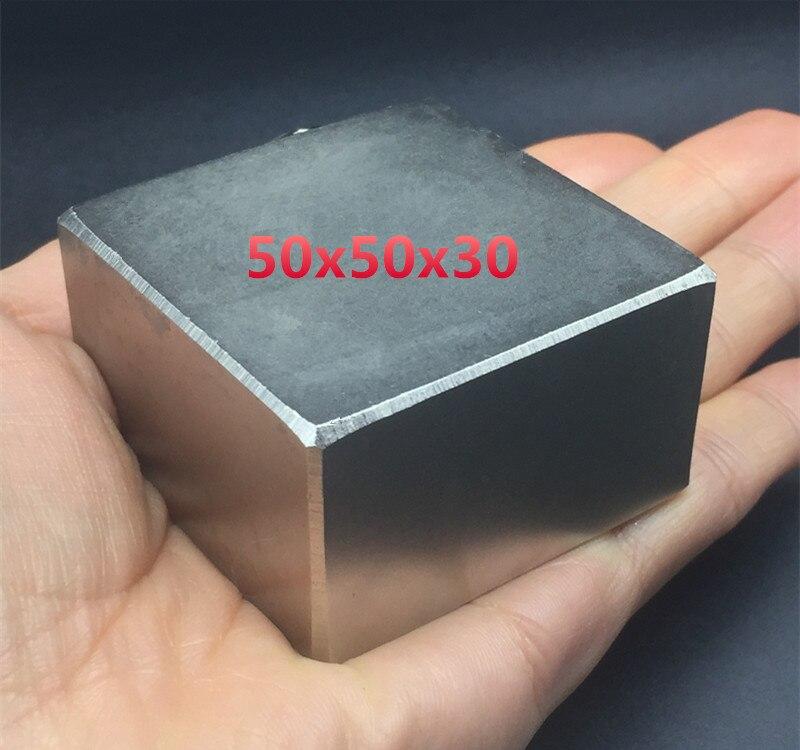 1 stücke Block 50x50x30mm Super Starke hohe qualität Seltenen Erde magneten starken Neodym-magnet 50 * 50*30mm platz GROßE