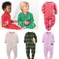Primavera & Outono Bonito Dos Desenhos Animados Do Bebê Rompers Quente Polar Fleece Infantil Pijamas Da Menina do Menino Macacão Macacão de Recém-nascidos Crianças Roupas Bebes