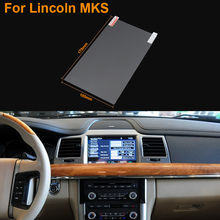Car Styling 8 Inch GPS Navigation Screen Steel Protective Film For Lincoln MKS Control of LCD Screen Car Sticker