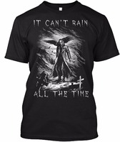 Funny Design T Shirt Novelty Tops The Crow It Cant Rain All The Time Customize Printed