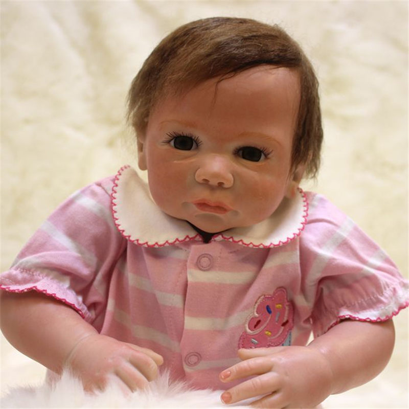 silicone reborn baby doll newborn accompany sleeping doll reborn babies Children Kids toys Christmas birthday gift brinquedos