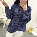 45 new winter flower sand coarse needle irregular hem thick knitted sweater sleeve head F1539