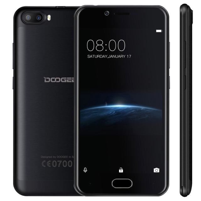 DOOGEE Shoot 2 Smartphone 8GB ROM 1GB RAM 5.0 inch Screen Android 7.0 MTK6580A Quad core Dual SIM OTG Dual Rear Cameras