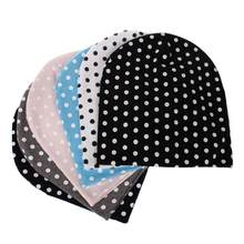 NEW warm newborn photography accessories Cute Baby Girls Boys Cartoon Dot Toddlers Cotton Sleep Cap Head wear Hat 0716(China)