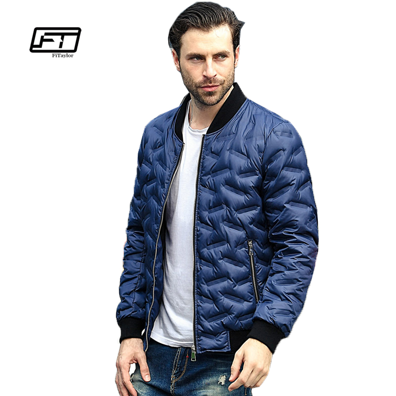 Fitaylor Winter Ultra Light Duck   Down     Coats   Men Casual Jacket Warm Parkas Stand Collar Lettice Outwear