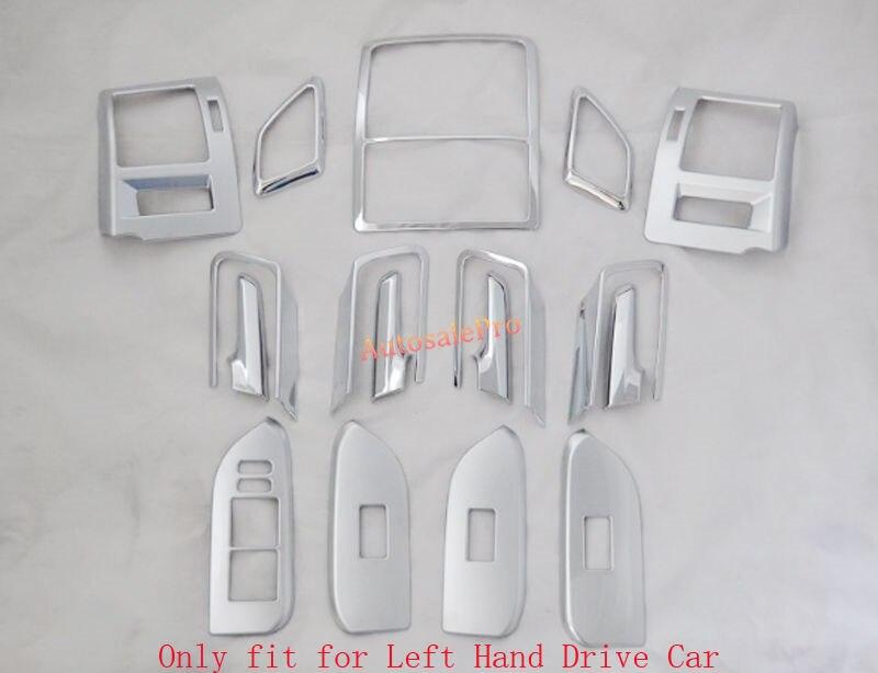 Accessoires d'intérieur Kit complet porte de toit AC état couvercle garniture Chrome pour Toyota Prado FJ150 FJ 150 2010-2015