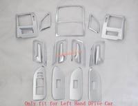 Interior Accessories Full Kit Roof Door AC Condition Cover Trim Chrome For Toyota Prado FJ150 FJ 150 2010 2015