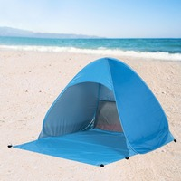 Outdoor 2 3 Persons Quick Automatic Pop Up Instant Portable Cabana Beach Tent Camping Fishing Picnic