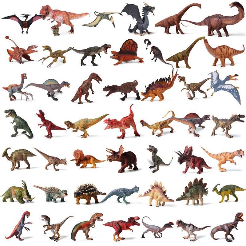 Jurassic Park Dinosauro Giocattolo di Plastica Modello Del Mondo Tirannosauro Stegosauro Brontosauro PVC Collection Bambola Animale Per I Bambini Regalo