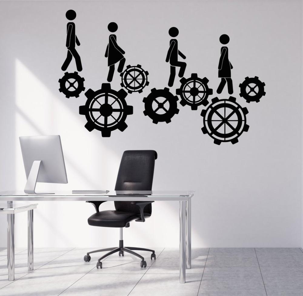 creative office decoration vinyl wall stickers home interior decor teamwork wall decals 40. Black Bedroom Furniture Sets. Home Design Ideas
