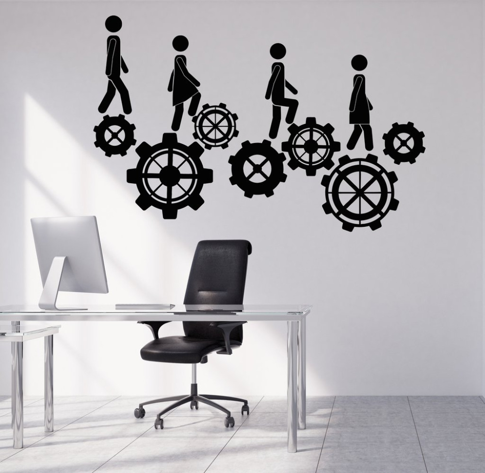 creative office wall art. creative office decoration vinyl wall stickers home interior decor teamwork decals 40 colors available art a