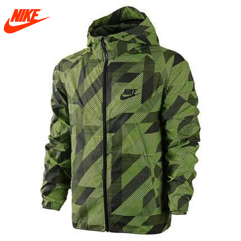 Authentic Nike Mens windproof windrunner jacket Out door training jacket green dg 201 precise guide rail optical slide 100mm x 300mm