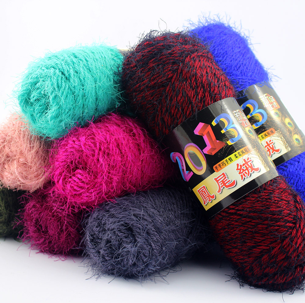 Knitting Work From Home : Pcs cheap mohair blended yarn baby knitting wool mink