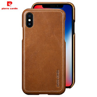 Pierre Cardin Phone Case For iPhone X 10 Case Luxury Original Genuine Leather Coque for iPhone X Cover Ultra Thin Accessories