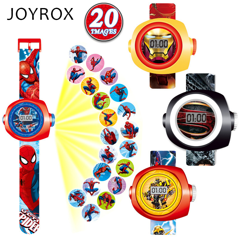 JOYROX Creative Cartoon Reflection Children Watch Fashion Silicone Strap Digital Wristwatch 2017 Hot Boys Girls Kids gifts Clock joyrox minions pattern children watch 2017 hot despicable me cartoon leather strap quartz wristwatch boys girls kids clock