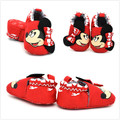 1 pair Cute Cartoon Red Minnie mouse Anti-slip Shoes for Baby Girls Newborn Casual Prewalker Footwear Soft Bottom Bebe Shoes GYH