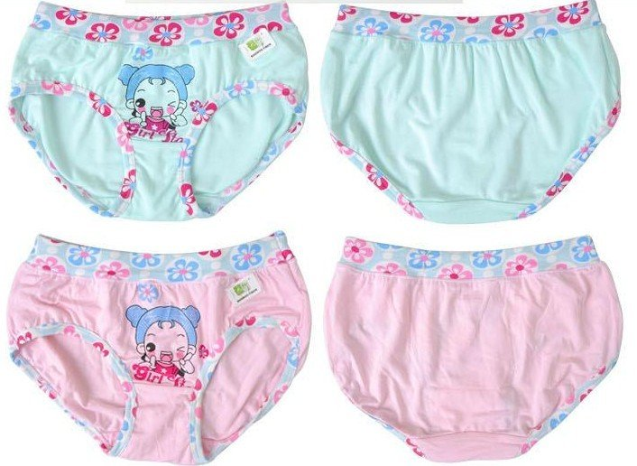 4pieces Free Shipping Top Quality Comfortable Girls Underwear ...