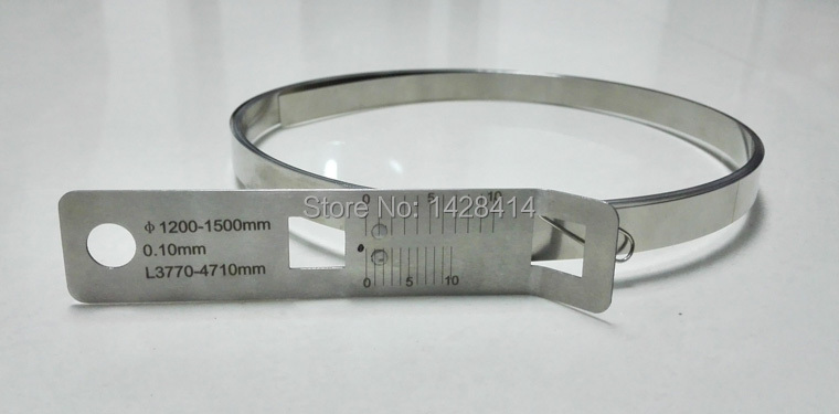 16022-16965mm Stainless Steel Precision Circumference TapeRuler and Diameter ruler Periphery Taper Circumference Tape PI Taper