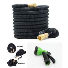 цены 1 set 50ft Garden Hose Expandable Flexible Magic Water Hose Latex Hoses Pipe With Spray Gun To Watering