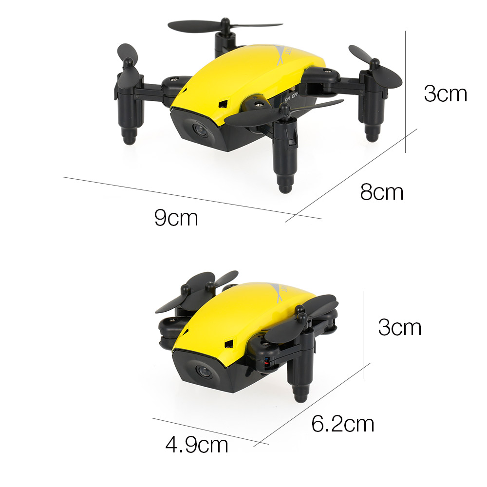 New Cute Mini Drone S9 2.4G 4CH 6-axis Gyro Selfie Drone Headless Mode One Key Return Foldable Dron RC Quadcopter RTF Gift (12)