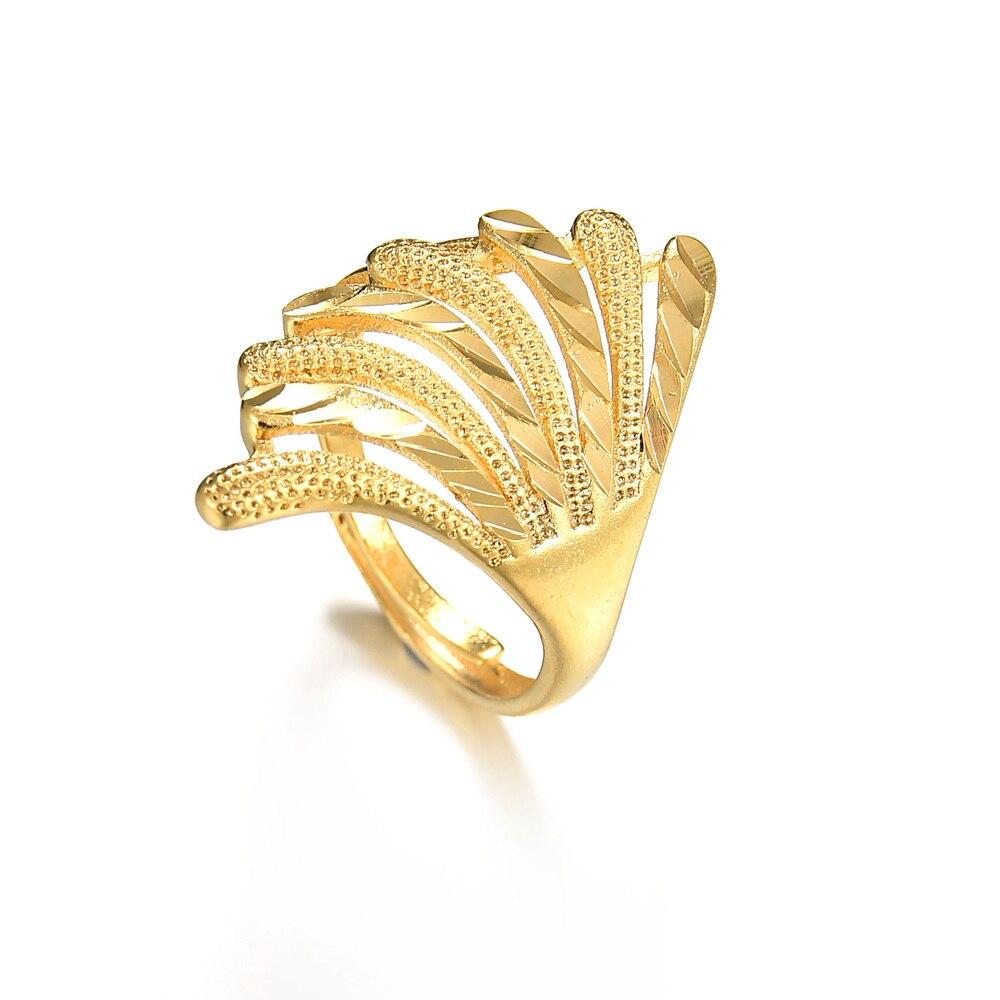 Memolissa Ethiopian Trendy Ring Gold Color For Women Men Fashion