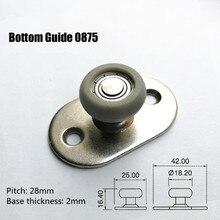 Folding door parts push pull door track moving hoist pulley wheel down guide wheel 0875