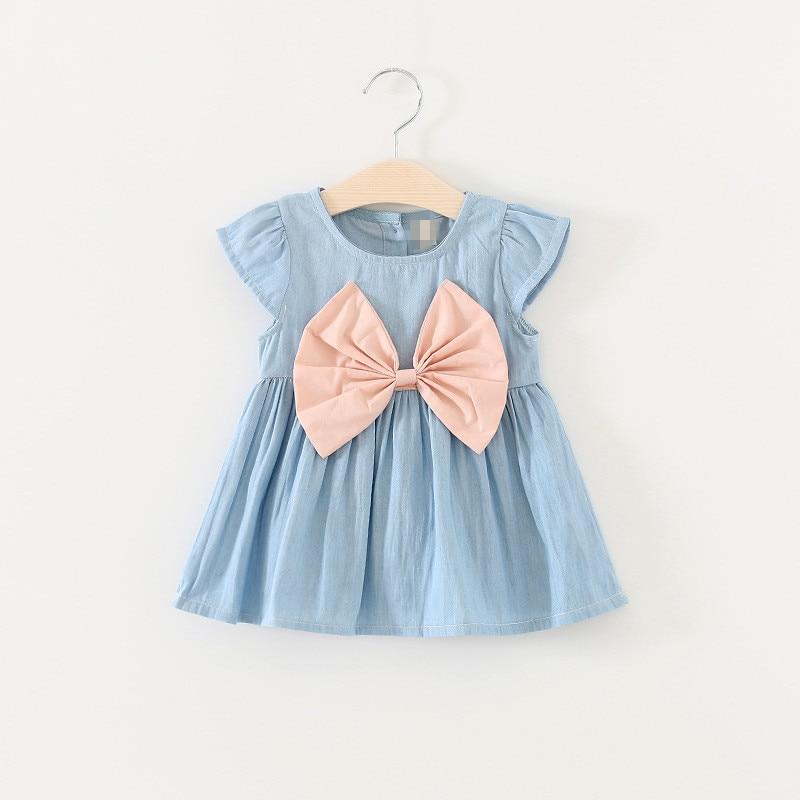 Denim Shorts Set Kids Cotton Summer Clothes Baby Girls Summer Dovetail Dress