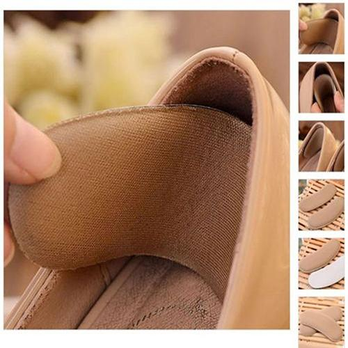 SANWOOD 5 Pairs Fabric Sticky Back Heel Grip Shoe Sponge Cushion Insole Pad Liners Shoe Insoles high heel insert sole protective