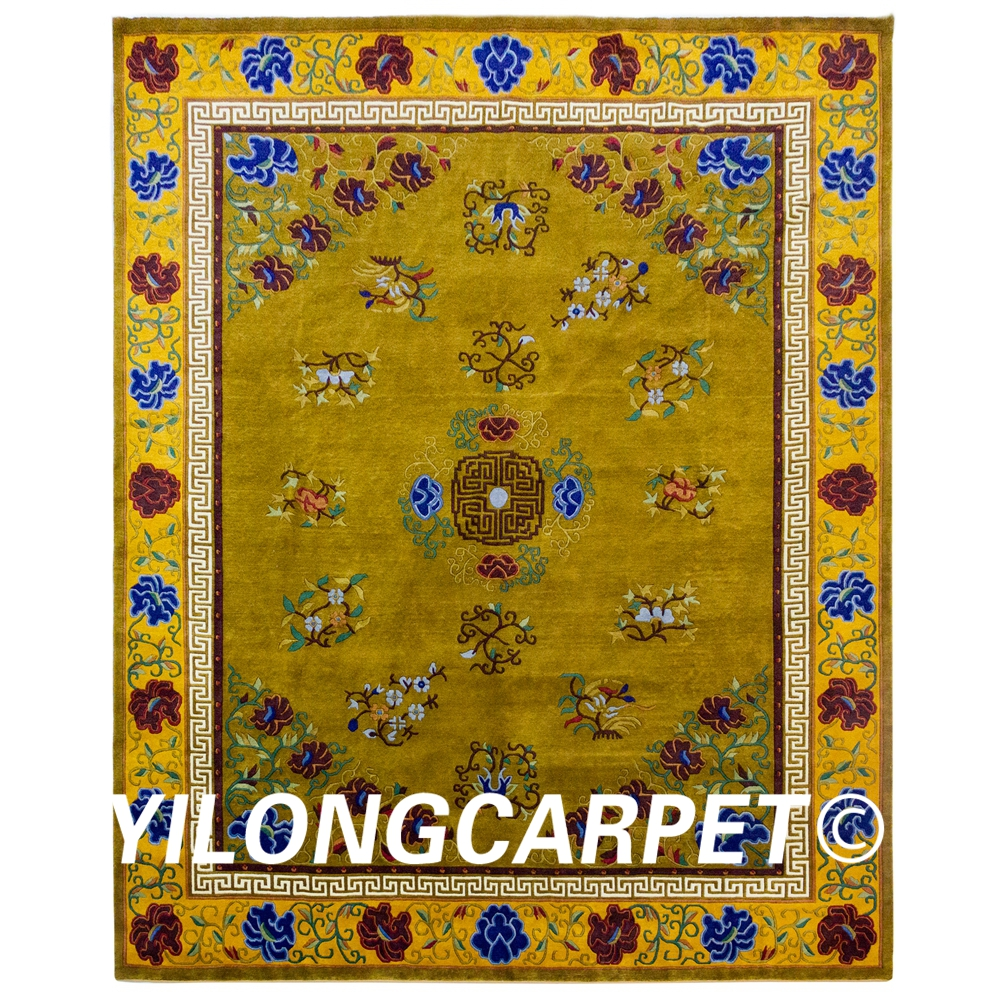YILONG 8'x10' Nepal Handmade Wool Rugs Exquisite Pattern
