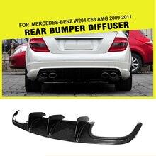 Карбоновое волокно/FRP задний диффузор бампер спойлер для Mercedes-Benz c-класс W204 C63 AMG седан 4 двери только 2009-2011
