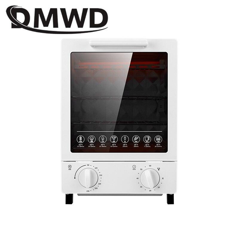 DMWD MINI grille-pain four électrique multifonction minuterie faisant des biscuits pain gâteau pizza biscuits cuisson machine 12L litre 800W EU US - 3
