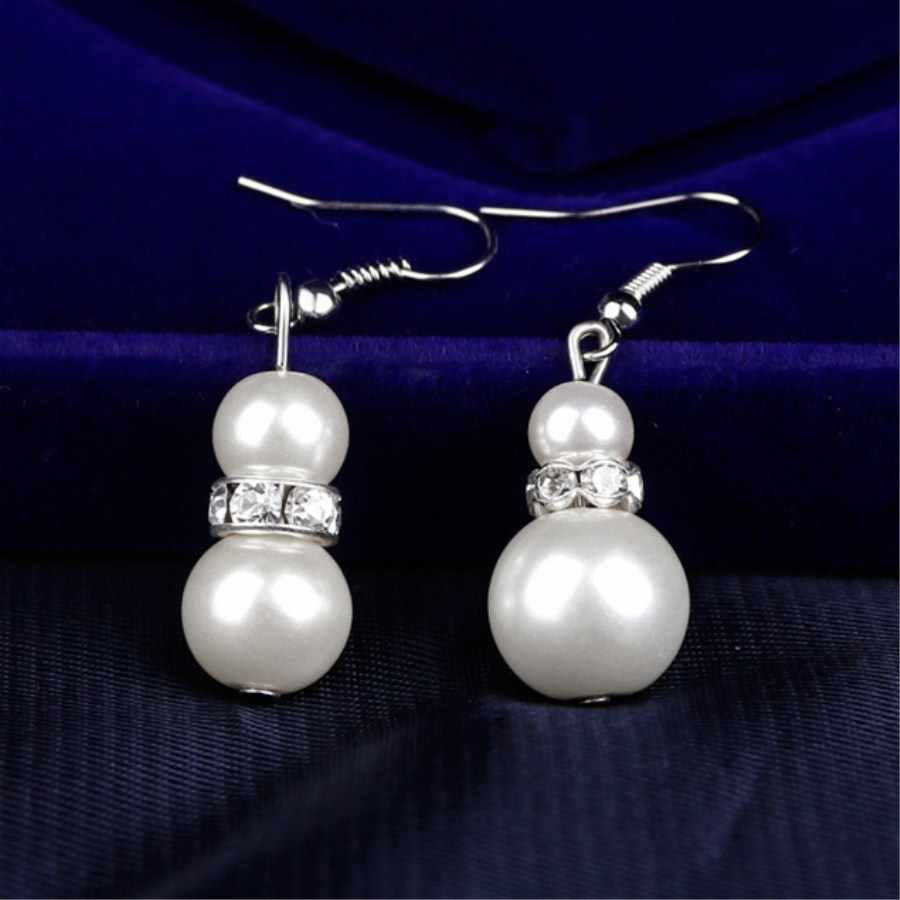 2018 brautjungfer Perle Schmuck Sets Halskette Ohrringe Armband Pro Set Dubai Schmuck Sets für Hochzeit Kostenloser Geschenke