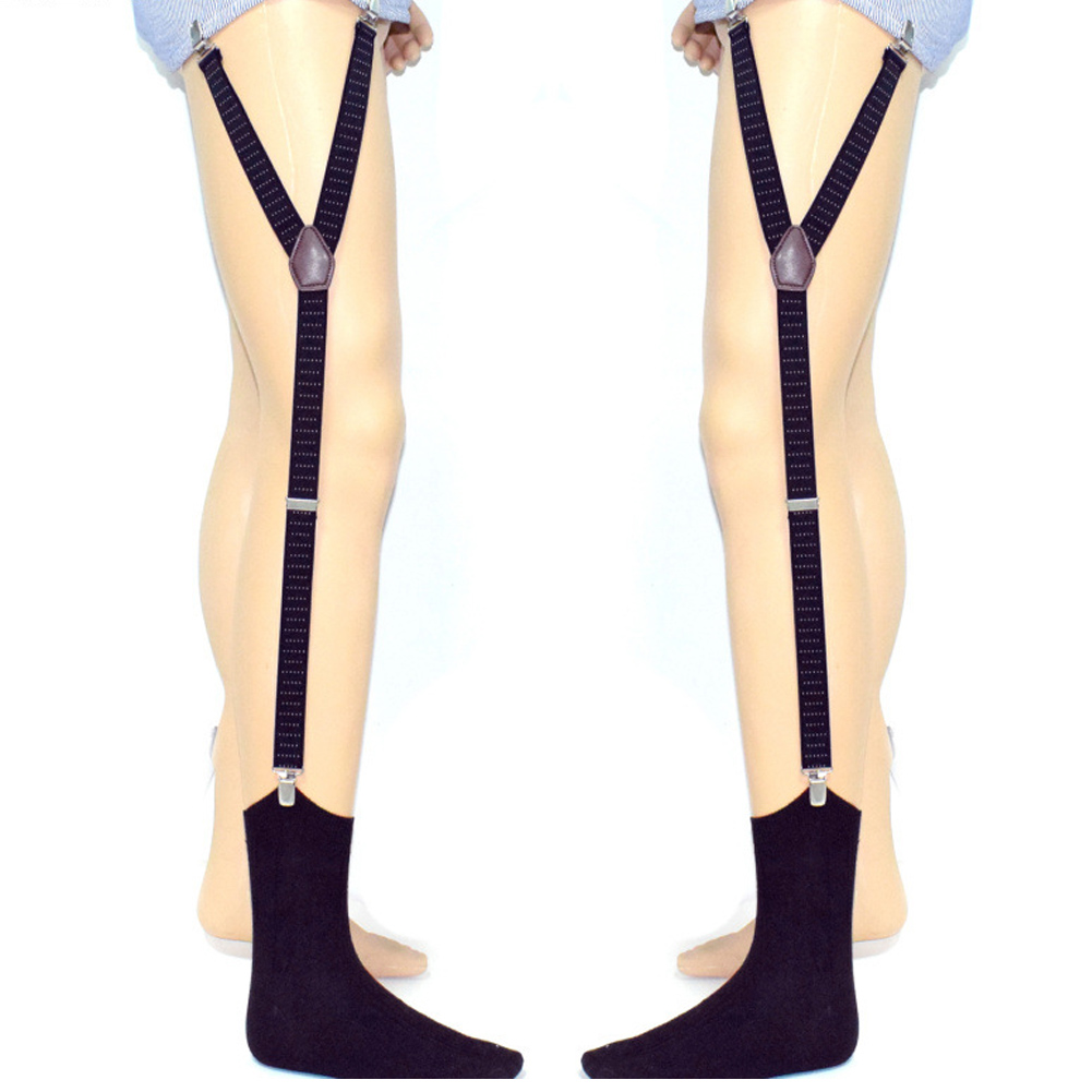 2019 Hot Men Shirt Stays Garters Y Shape With Non-slip Locking Clamps Suspenders Elastic Straps MSK66