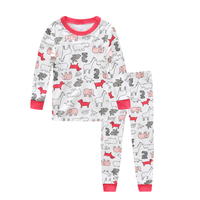 100% cotton Baby boys pajamas girls cartoon sleepwear animal kids pyjamas sets baby cotton nightwear long sleeves tops+pant sets