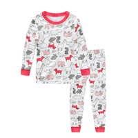 100% baumwolle Baby jungen mädchen pyjamas cartoon nachtwäsche tier kinder pyjamas sets baby baumwolle nachtwäsche langen ärmeln tops + hose sets