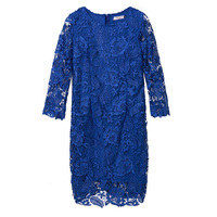 Sisjuly Women Lace Dress 2018 Lady Elegant Bodycon Party Dresses Above Knee O Neck Hollow Lace