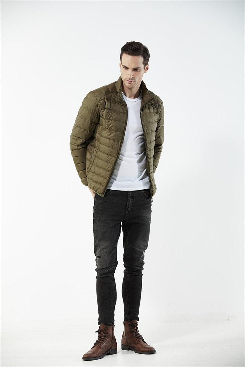 Customized White Duck Down Jacket Men Winter Ultralight Light Male Parka Coats Man Brand Clothing Water Resistant Outwear Autumn3