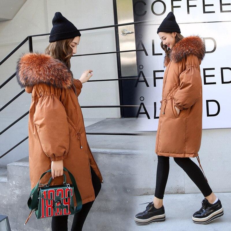 Ee29 Vraie Longue D'hiver Green Chaude Nouvelle Mode Épaissir De Noir Veste Manteaux Neige Femmes Fourrure Parka Outwear army camel Casual Manteau 2018 Femme Porter rwHSfrxIq
