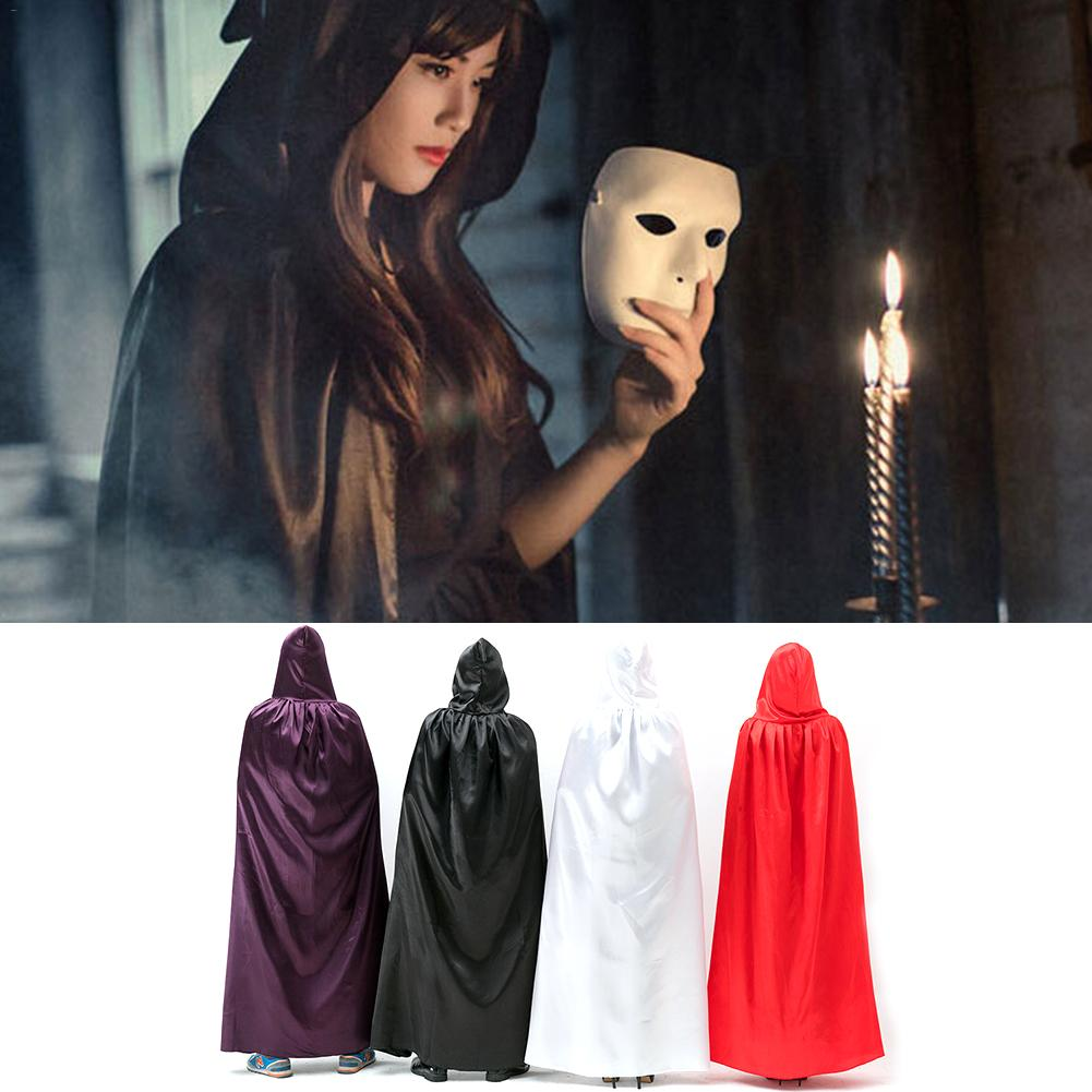 1 PCS Black/Red/White/Purple Halloween Cosplay Cloak Wizard Witch Cloak Ghost Festival Evil Witch Cloak Costumes Accessories