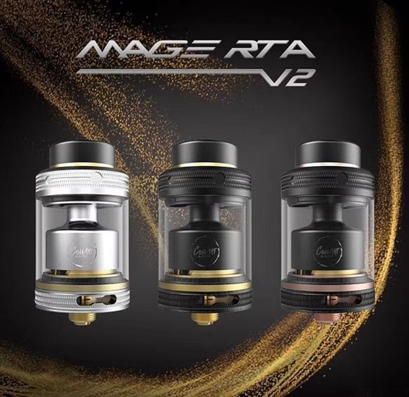 Original Coilart Mage RTA V2 24mm Vaporizer Rebuildable Tank Atomizer Fit 510 Thead Mod electronic cigarette Vape vs Manta RTA atomizer for reload rta e cigarette 24mm rebuildable tank vaporizer 510 thread