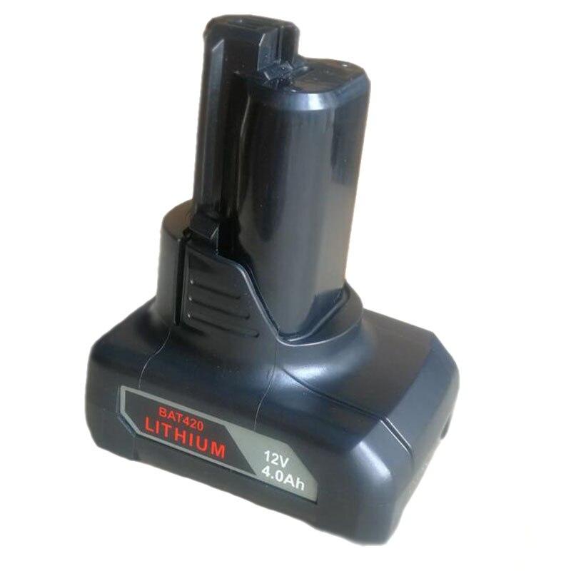 Dawupine BAT411 Li-ion Battery 4000mAh For Bosch 10.8V 12V 4Ah BAT411 BAT412A, BAT413A 2607336996 Drill Li-ion Battery