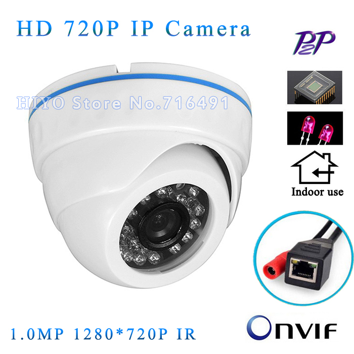 NEW Full HD Camera 12V IP Camera 720P Optional IP Camera PoE Indoor Dome Security Camera ONVIF 2.0 IR Night Vision 2pcs lot ip camera poe onvif 2 4 vandalproof dome 3 6mm lens 720p hd 1080p indoor 8m ir night vision security camera ip 2mp